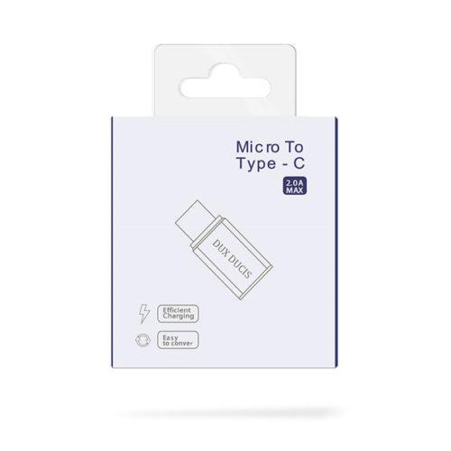 Ανταπτορας Dux Ducis Απο Micro Usb Σε Type C
