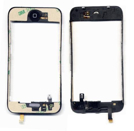 Βαση Τζαμιου Για iPhone 3G - 3GS Μαυρη Με Flex Home Button