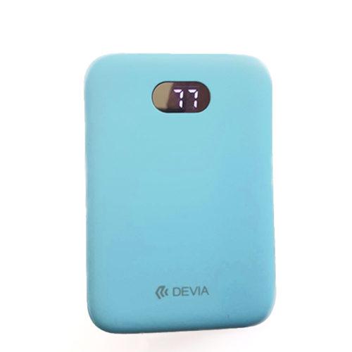 Εξωτερικη Μπαταρια Devia Digital Mini με Οθονη 10000mAh Γαλαζιο