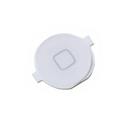 Εξωτερικο Κουμπι Για Apple iPhone 4S Home Button Ασπρο Με Μεταλλικη Επαφη OR