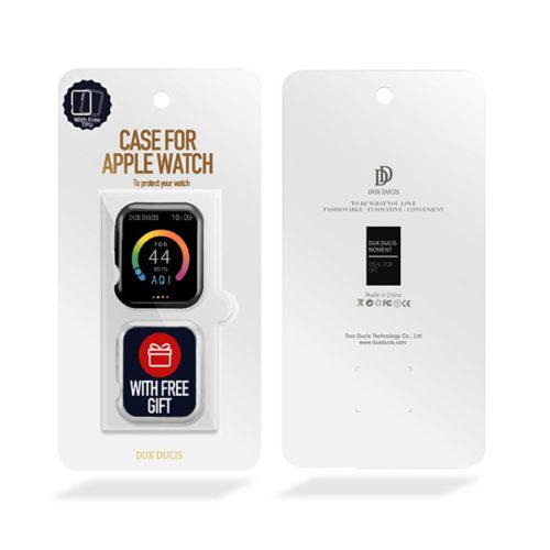 Θήκη TPU Για Apple Watch 44mm Series 4 / 5 Μαύρη & Διάφανη