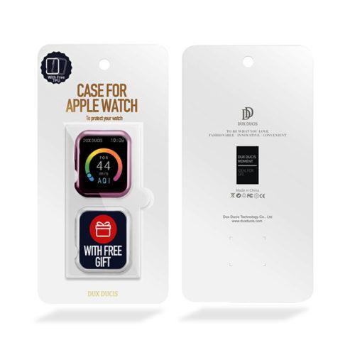 Θήκη TPU Για Apple Watch 44mm Series 4 / 5  Ροζ & Διάφανη