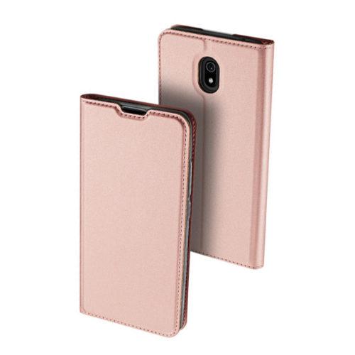 Θηκη Book DD Skin Pro Για Xiaomi Redmi 8A Ροζ Χρυση