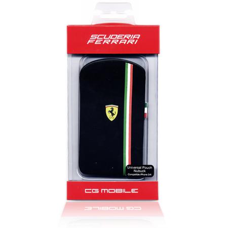 Θηκη Ferrari Για Apple iPhone 3G/4 Nubuk Μαυρη Italy
