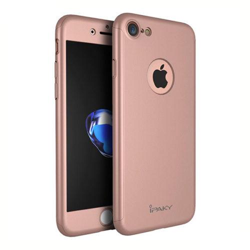 Θηκη IPAKY Classic 360° για Apple iPhone 7+ Ροζ & Προστατευτικο Τζαμι