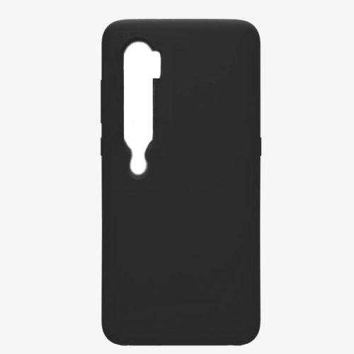 Θηκη Liquid Silicone για Xiaomi Μi Note 10 Μαυρη