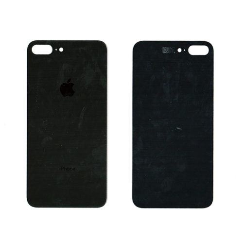Καλυμμα Μπαταριας Για Apple iPhone 8+ Μαυρο Τζαμι Με Ταινια Διπλης Οψης