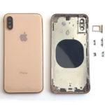 Καλυμμα Μπαταριας Για Apple iPhone XS Max Χρυσο Με Frame