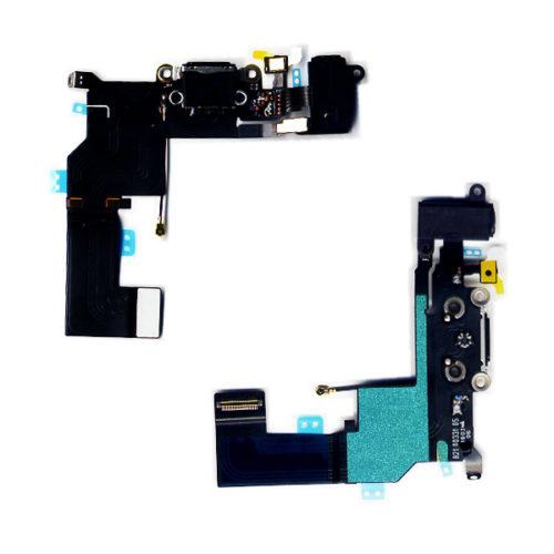 Καλωδιο Πλακε Για Apple iPhone SE Με Κοννεκτορα Φορτισης-AV Ακουστικων Μαυρο-Μικροφωνο OR