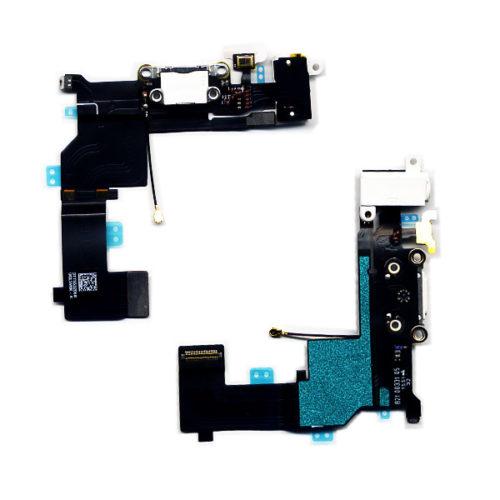 Καλωδιο Πλακε Για Apple iPhone SE Με Κοννεκτορα Φορτισης- AV Ακουστικων - Μικροφωνο Ασπρο OR