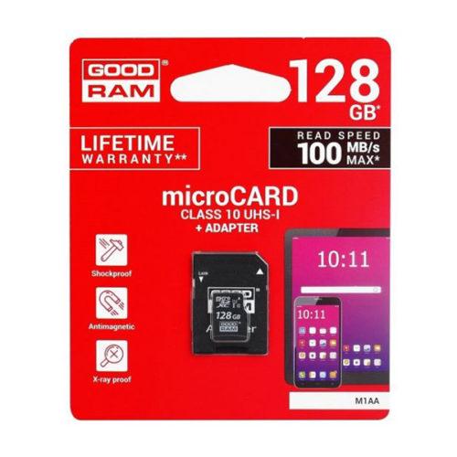 Καρτα Μνημης Trans Flash 128GB GoodRam Με Ανταπτορα SD Class 10