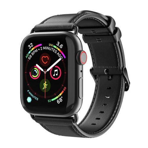 Λουρακι Δερματινο Dux Ducis Για Apple Watch 38mm - 40mm Μαυρο