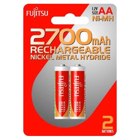 Μπαταριες AA Fujitsu Επαναφορτιζομενες  ΝιΜΗ 2700mAh (2 τεμ) made in China