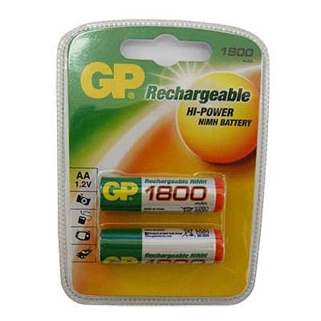 Μπαταριες AA GP Επαναφορτιζομενες  ΝιΜΗ 1800mAh (2 τεμ)
