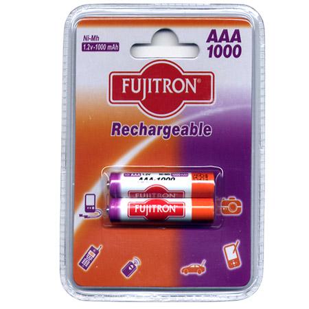 Μπαταριες AAA Fujitron Επαναφορτιζομενες  ΝιΜΗ 1000mAh (2 τεμ)