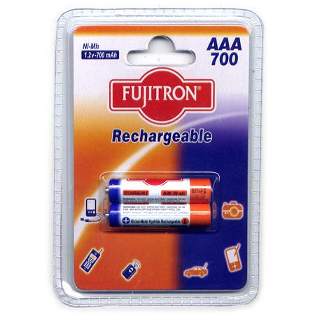 Μπαταριες AAA Fujitron Επαναφορτιζομενες  ΝιΜΗ 700mAh (2 τεμ)