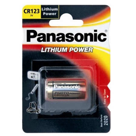 Μπαταριες Panasonic CR123A (1τμχ)