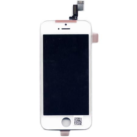 Οθονη Για Apple iPhone 5S Με Τζαμι Ασπρο Χωρις Ηome Button-Sensor Light-Ακουστικο Grade A