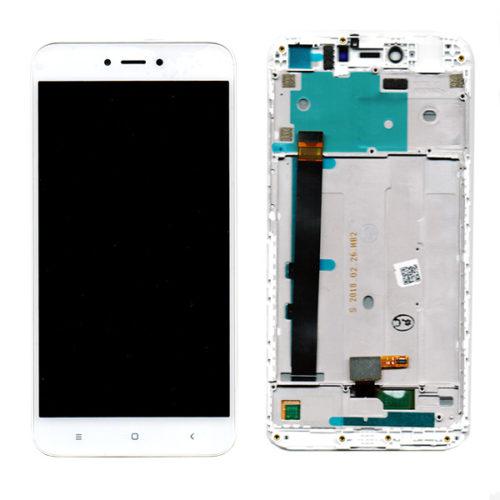 Οθονη Για Xiaomi Redmi Note 5A Με Τζαμι και Frame Ασπρο Grade A
