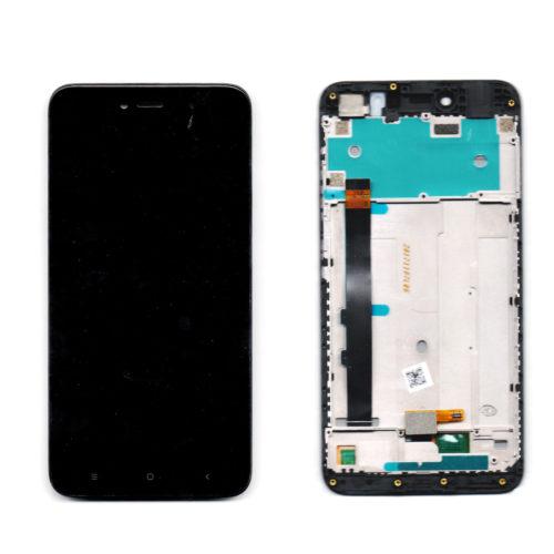 Οθονη Για Xiaomi Redmi Note 5A Prime Με Τζαμι Μαυρο και Frame Grade A