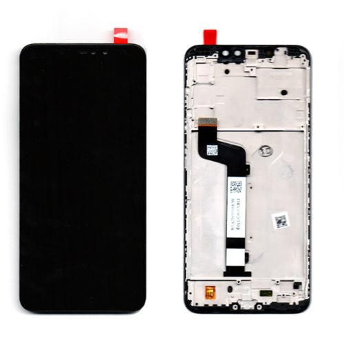 Οθονη Για Xiaomi Redmi Note 6 Pro Με Τζαμι Μαυρο κ Frame Grade A