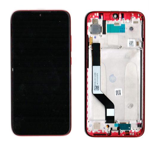 Οθονη Για Xiaomi Redmi Note 7 Με Τζαμι και Frame Κοκκινο Grade A