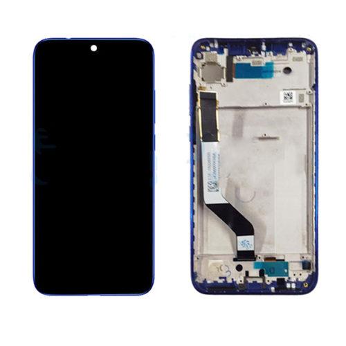Οθονη Για Xiaomi Redmi Note 7 Με Τζαμι και Frame Μπλε Grade A