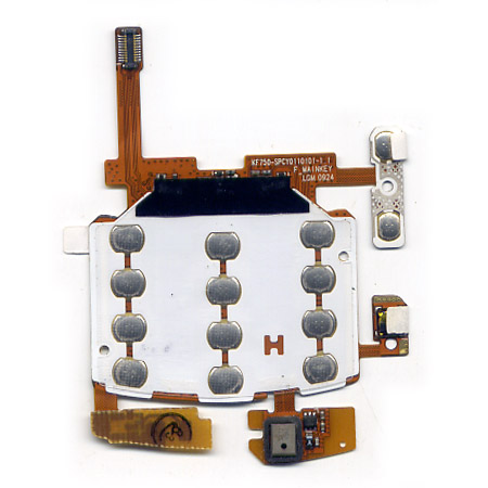 Πλακετα Πληκτρολογιου Για LG KF750 Κατω Αριθμητικου Με Μικροφωνο-Πλαινες Επαφες OR