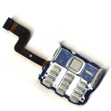 Πλακετα Πληκτρολογιου Για Nokia N82 Με Πληκτρολογιο Ασημι UI Cover Assy Με Μικροφωνο OEM