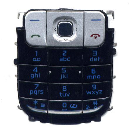 Πληκτρολογιο Για Nokia 2630 Μαυρο OEM Με Ασημι Ανω