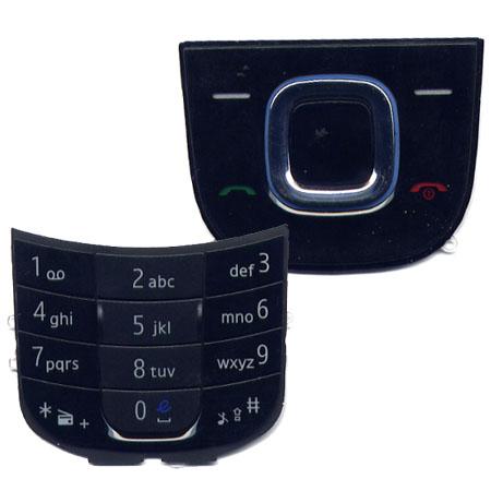 Πληκτρολογιο Για Nokia 2680S Μαυρο Set 2 Τεμ (Πανω-Κατω) OEM
