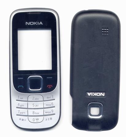 Προσοψη Για Nokia 2330 Classic Μαυρη OR Εμπρος Με Ασημι Πληκτρολογιο Και Μαυρο Τζαμακι-Καλυμμα Μπαταριας Μαυρο (0253978+0253952)