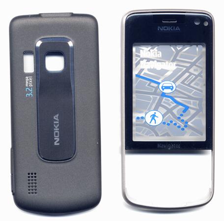 Προσοψη Για Nokia 6210 Navigator OEM Μαυρη Εμπρος Οθονης Με Τζαμακι-Πισω Μερος-Με Πλαστικα Κουμπακια