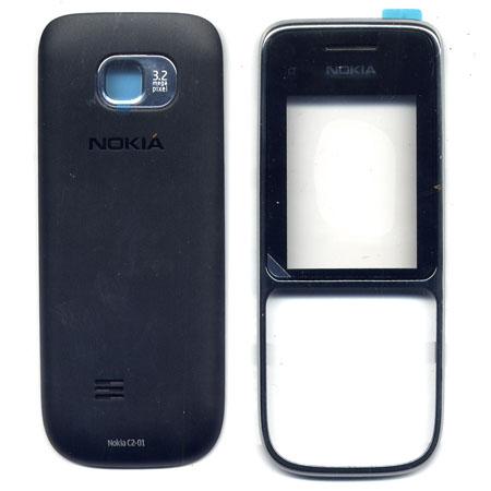 Προσοψη Για Nokia C2-01 Μαυρη OR Εμπρος-Πισω Με Τζαμι (0258349+0258358)