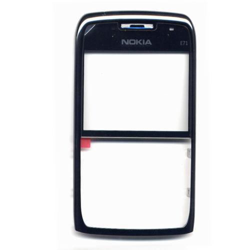Προσοψη Για Nokia E71 Εμπρος Μαυρη Με Τζαμι OR (0253553)