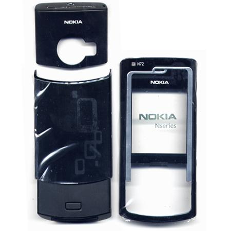 Προσοψη Για Nokia N72 Μαυρη Εμπρος - Πισω Σετ 3 Τεμαχια Με Πληκτρολογιο OEM
