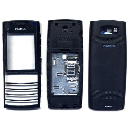 Προσοψη Για Nokia X2-02 Μαυρη Full Με Πληκτρολογιο OEM