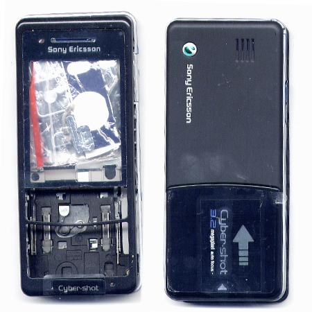 Προσοψη Για SonyEricsson C510 Μαυρη OEM Full Με Πλαστικα Κουμπακια