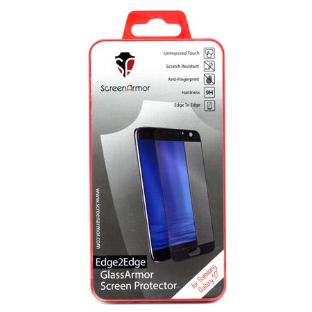 Προστατευτικο Τζάμι Οθονης Edge to Edge Μαυρο Για Samsung G930 Galaxy S7