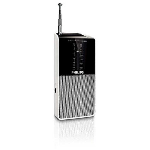 Ραδιοφωνο Φορητο Αναλογικό FM/MV Philips AE1530 Μαυρο - Ασημι