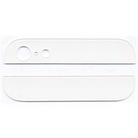 Τζαμια Πισω Καλυματος Ανω-Κατω Μερους Για iPhone 5 Ασπρο OEM Σετ 2 Τεμαχια
