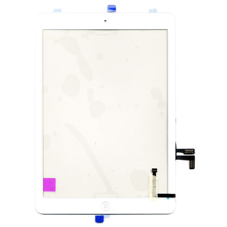 Τζαμι Για Apple iPad Air / iPad 5 Ασπρο Με Home Button Grade A