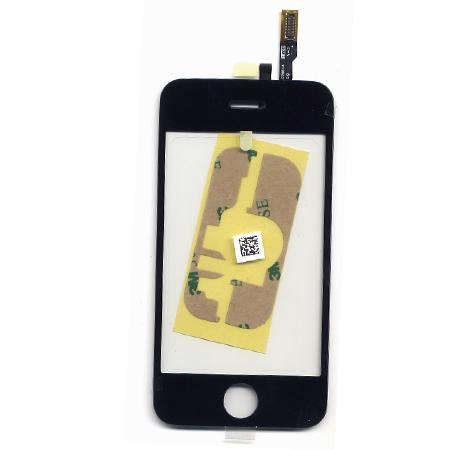 Τζαμι Για Apple iPhone 3GS Μαυρο OEM