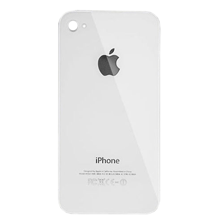 Τζαμι Πισω Καλυματος Για iPhone 4 Ασπρο OEM