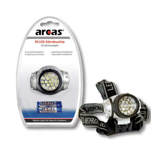 Φακος Κεφαλης Arcas 9 Led + 3 Μπαταρια AAA Alkaline