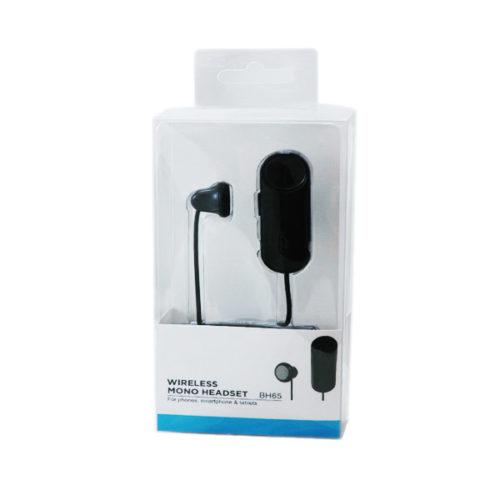Bluetooth Handsfree BH65 Clip On Mono Μαυρο