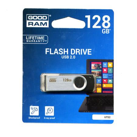 Flash Pen USB 2.0 128GB GoodRam Μαυρο