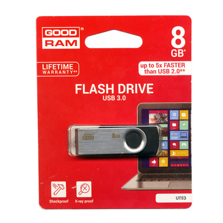 Flash Pen USB 3.0 8GB GoodRam Μαυρο