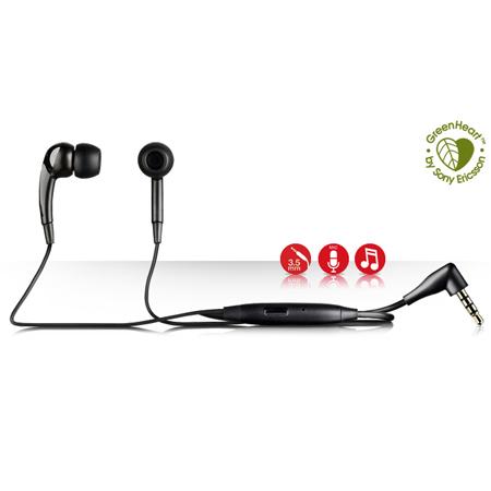 Hands Free Stereo SonyEricsson MH650 Μαυρο Για Vivaz Bulk 3.5mm Με Ακουστικο Σιλικονης