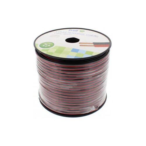 Καλώδιο Ηχείου Well 100m 2x1.50mm2 CCA Μαύρο/κόκκινο LSP-CCA1.50BR-100-WL